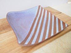 画像2: 甲和土青釉 角皿2【甲和焼 芝窯】 (2)