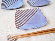 画像1: 甲和土青釉 角皿2【甲和焼 芝窯】 (1)