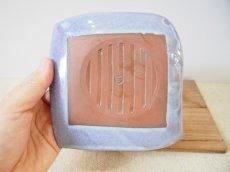 画像3: 甲和土青釉 角皿2【甲和焼 芝窯】 (3)
