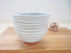 画像1: 甲和土白釉 ゆのみ -2【甲和焼 芝窯】 (1)