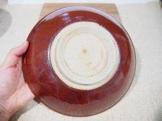 画像4: 柿釉 中鉢【甲和焼芝窯】※中央に大きなホクロが有るため特別価格 (4)