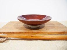 画像1: 柿釉 高台小皿【甲和焼芝窯】 (1)