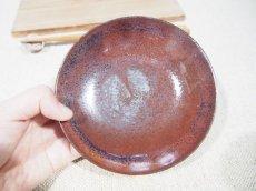 画像6: 柿釉 高台小皿【甲和焼芝窯】 (6)
