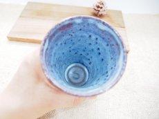 画像2: 甲和土青釉 ビアマグ【甲和焼 芝窯】 (2)