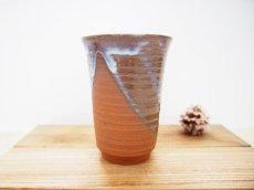 画像2: 甲和土青釉&白釉 ビアマグ【甲和焼 芝窯】 (2)