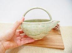 画像5: 灰釉 手付酒注 【甲和焼 芝窯】 (5)