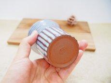 画像3: 甲和土青釉 ビアマグ【甲和焼 芝窯】 (3)