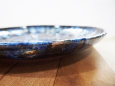 画像4: 甲和土 青釉長掛け10寸皿(大皿)【甲和焼 芝窯】 (4)