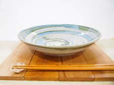 画像1: 練上マーブル 8.5寸皿【甲和焼 芝窯】 (1)