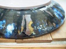 画像5: 甲和土 青釉長掛け10寸皿(大皿)【甲和焼 芝窯】 (5)