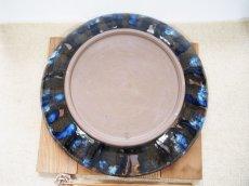 画像6: 甲和土 青釉長掛け10寸皿(大皿)【甲和焼 芝窯】 (6)