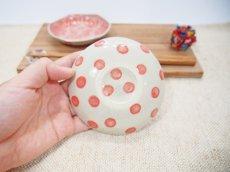 画像4: 麻の葉模様 六角豆皿 (赤)【nicorico】 (4)