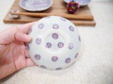 画像4: 麻の葉模様 六角豆皿 (紫)【nicorico】 (4)