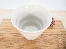 画像2: 紋花彩泥掻落 naminami cup(ピンク) 【nicorico】 (2)