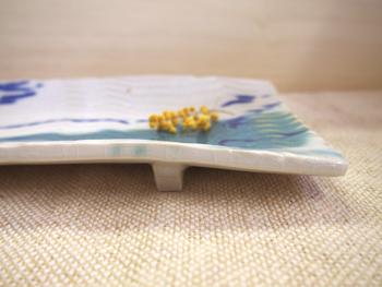 画像1: 長角皿  【甲和焼 芝窯】 (1)