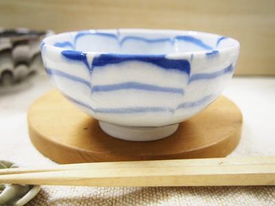 画像1: 練込花文 ごはん茶碗2 【甲和焼 芝窯】 (1)