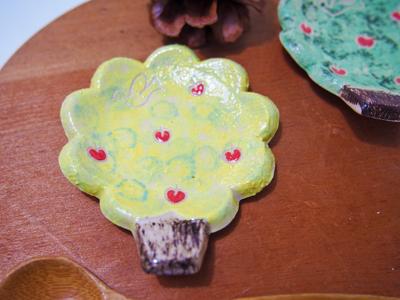 画像1: ことりの木豆皿(黄)【nicorico】 (1)