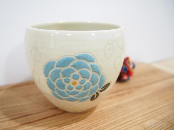 画像1: 紋花彩泥 フリーカップ(水色) 【nicorico】 (1)