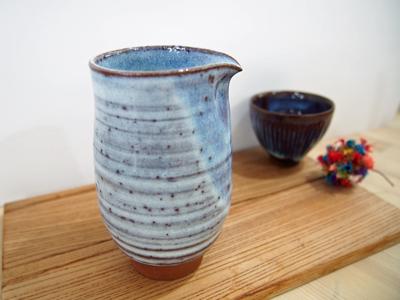 画像1: 甲和土青釉 片口  【甲和焼 芝窯】 (1)