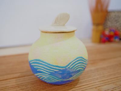 画像1: 海の茶入れ 【nicorico】 (1)