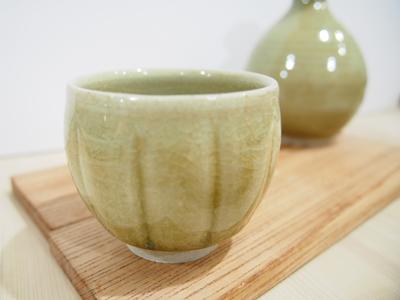 画像1: 灰釉 ぐい吞み 1 【甲和焼 芝窯】 (1)