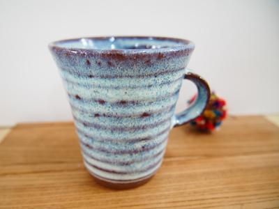 画像1: 甲和土青釉 マグカップ1【甲和焼 芝窯】 (1)
