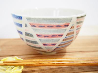画像1: パッチワーク ごはん茶碗(小)2 【nicorico】 (1)