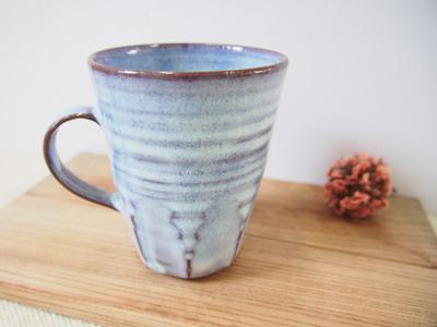 画像1: 甲和土青釉 マグカップ2【甲和焼 芝窯】 (1)