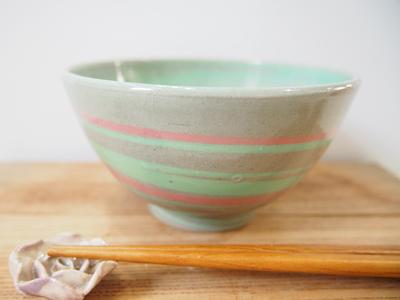 画像1: 練上マーブル ごはん茶碗 2 【甲和焼 芝窯】 (1)