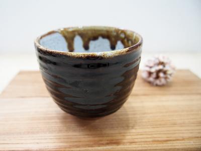 画像1: 甲和土鉄釉 ゆのみ -1【甲和焼 芝窯】 (1)