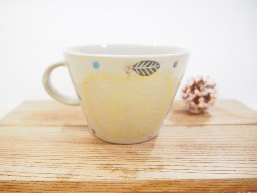 画像1: 黄&赤りんご マグカップ【nicorico】 (1)