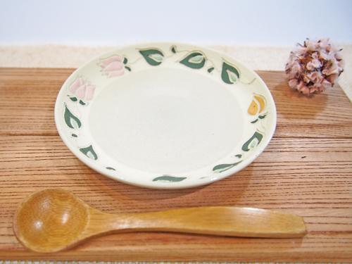 画像1: 紋花彩泥焼〆 取皿(小さい花) 【nicorico】 (1)
