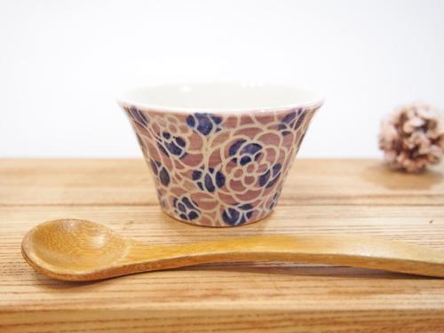 画像1: 紋花彩泥掻落ドット 豆鉢(紫×濃紺) 【nicorico】 (1)