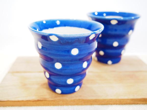 画像1: 瑠璃色のドット naminami cup 【nicorico】 (1)