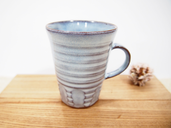 画像1: 甲和土青釉 マグカップ3【甲和焼 芝窯】 (1)