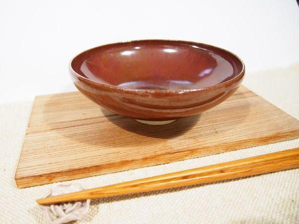 画像1: 柿釉 鉢 (小) 【甲和焼芝窯】 (1)
