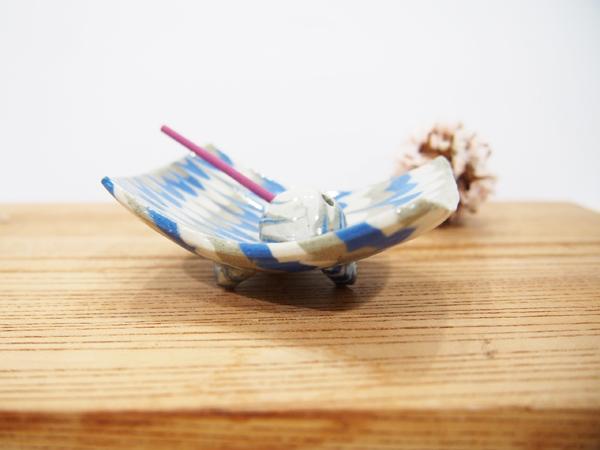 画像1: 練込鶉文 香立て 2  【甲和焼 芝窯】 (1)