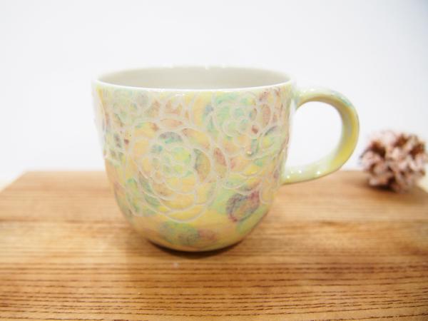 画像1: 紋花彩泥掻落マルチドット マグカップ 1 【nicorico】 (1)