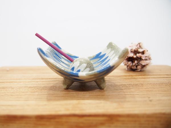 画像1: 練込鶉文 香立て 1  【甲和焼 芝窯】 (1)