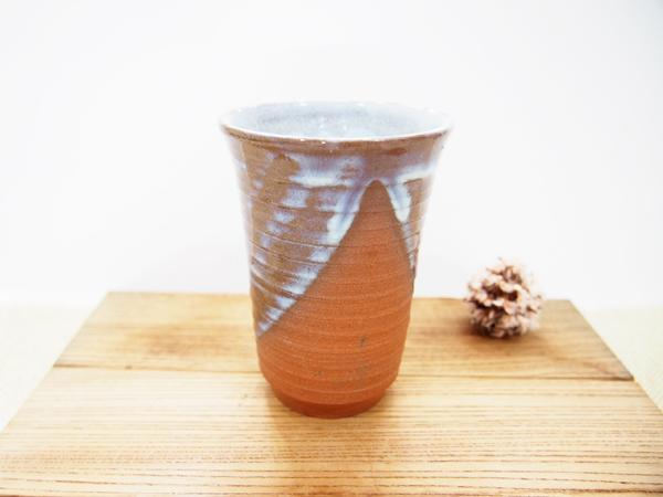 画像1: 甲和土青釉&白釉 ビアマグ【甲和焼 芝窯】 (1)