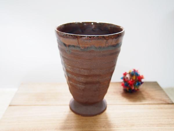 画像1: 甲和土ビアマグ 2【甲和焼 芝窯】 (1)