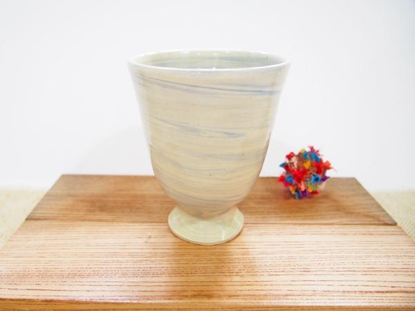 画像1: 練上マーブル ビアマグ2(少し小さめ) 【甲和焼 芝窯】 (1)