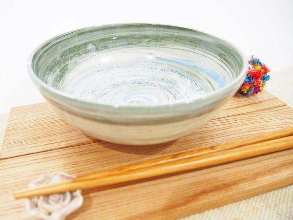画像1: 練上マーブル 5寸鉢【甲和焼 芝窯】 (1)