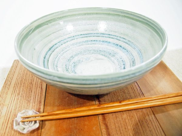 画像1: 練上マーブル 6.5寸鉢【甲和焼 芝窯】 (1)
