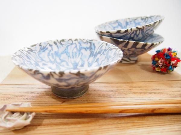 画像1: 練込マーブル 小鉢  【甲和焼 芝窯】 (1)