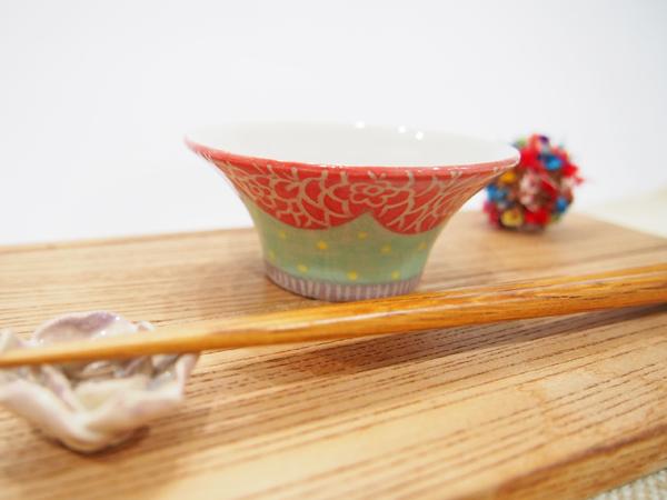 画像1: カラフル ドット豆鉢2 【nicorico】 (1)