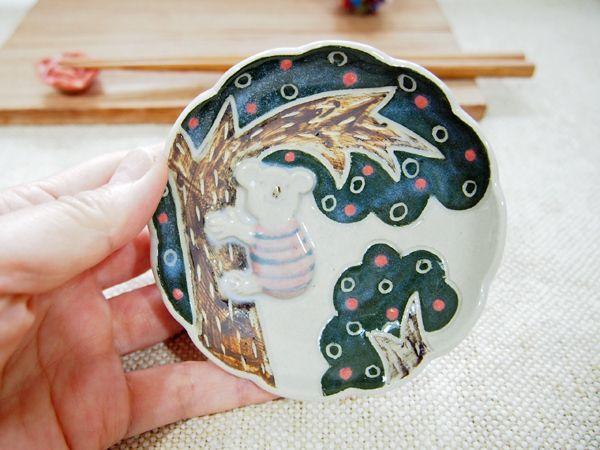 画像1: コアラ豆皿2 【nicorico】 (1)