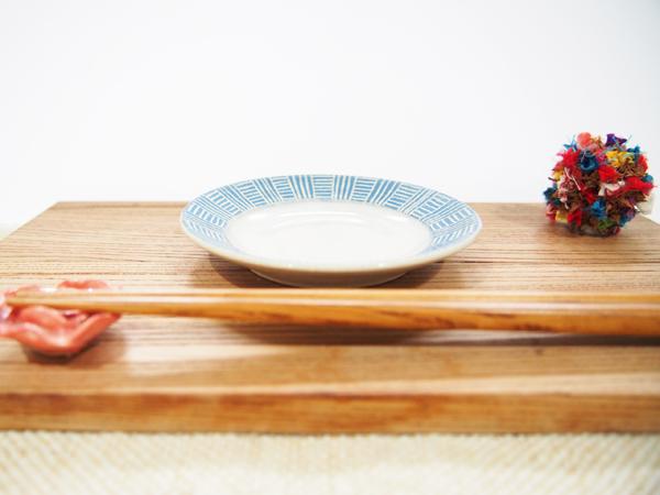 画像1: 幾何学豆皿5 (青緑)【nicorico】 (1)
