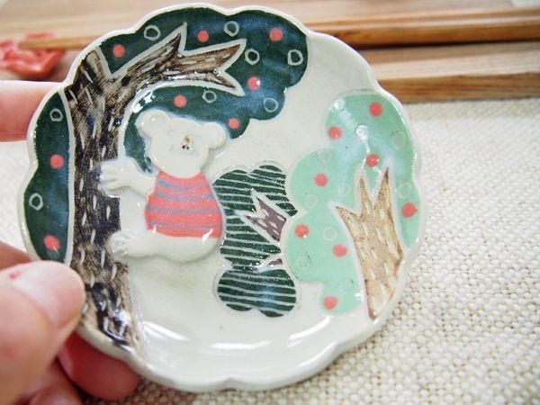 画像1: コアラ豆皿1 【nicorico】 (1)