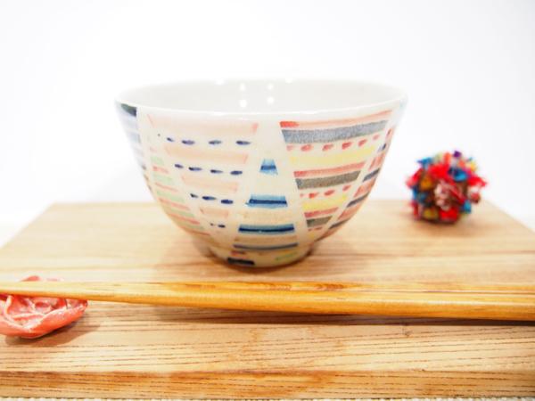 画像1: パッチワーク ごはん茶碗2 【nicorico】 (1)